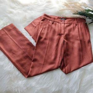 DOLCE & GABBANA Textured Rosy Pink Silk Pants 38